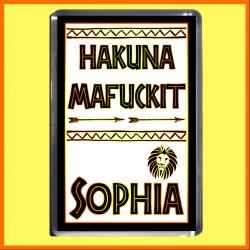 "Personalised ""Hakuna Mafuckit"" Fridge Magnet"