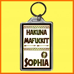 "Personalised ""Hakuna Mafuckit"" Large Key Ring"