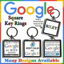 Personalised GOOGLE Square Key Ring