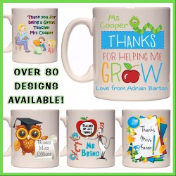 Personalised Teachers Mug (Thank you gift)