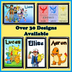 Personalised Pokemon Fridge Magnet