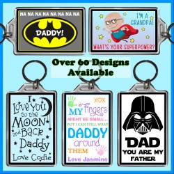 Personalised Father's Day Large Key Ring