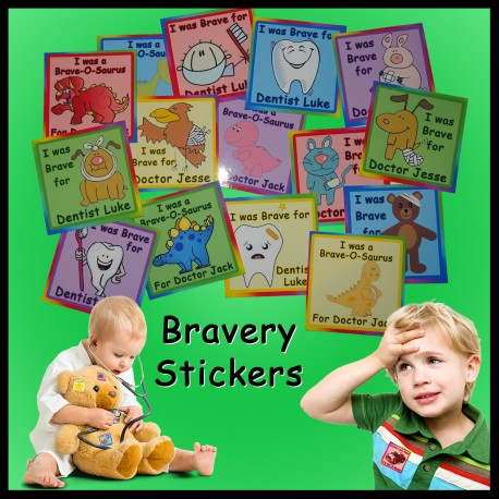 Personalised Bravery Stickers