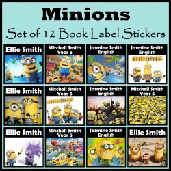 Personalised Minions Book Labels