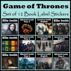 Personalised Game of Thrones Book Labels