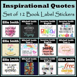 Personalised Inspirational Quotes Book Labels