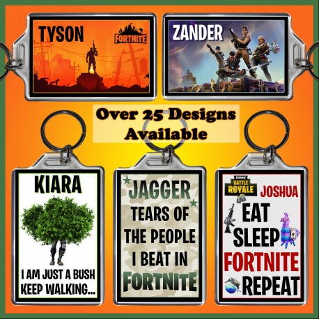 Personalised Fortnite Large Key Ring