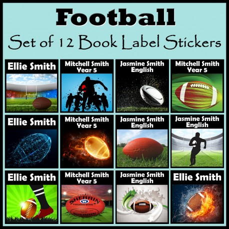 Personalised Football Book Labels