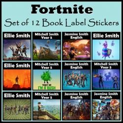Personalised Fortnite Book Labels