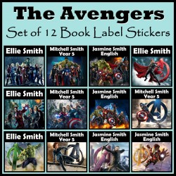 Personalised The Avengers Book Labels