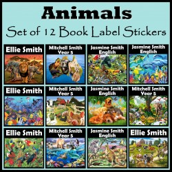 Personalised Animal Book Labels