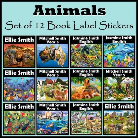Personalised Animal Book Labels