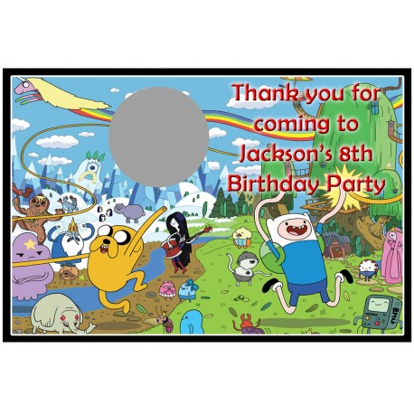 Personalised Adventure Time Scratch Cards
