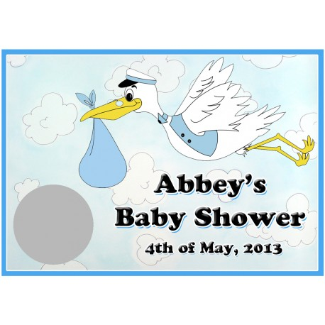 Personalised Baby Shower Scratch Cards