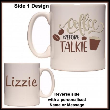 Personalised Coffee Before Talkie Mug