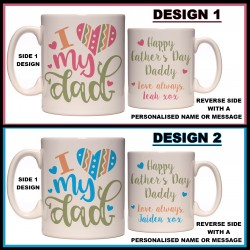 Personalised I Love My Dad Mug