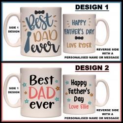 Personalised Best Dad Ever Mug
