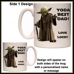 Personalised YODA Best DAD Mug