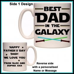 Personalised Best Dad in the Galaxy Mug