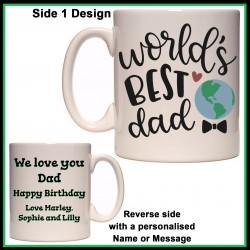 Personalised World's Best Dad Mug