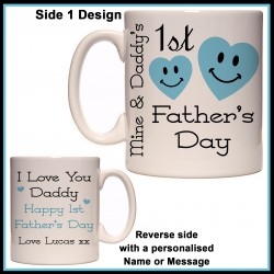 Personalised Mine & Daddy's 1st Father's Day Mug