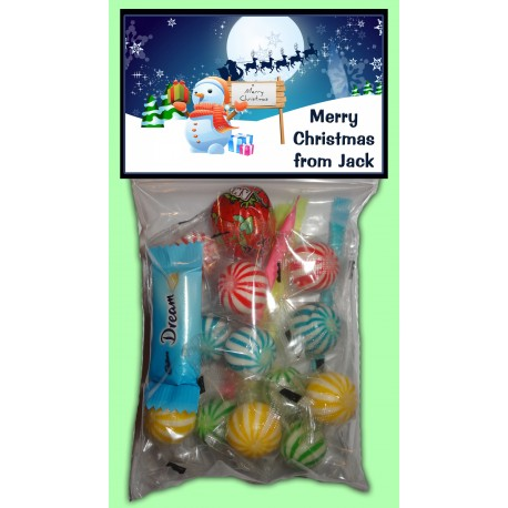 Personalised Christmas Lolly Bags