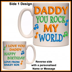 Personalised Daddy You Rock My World Mug