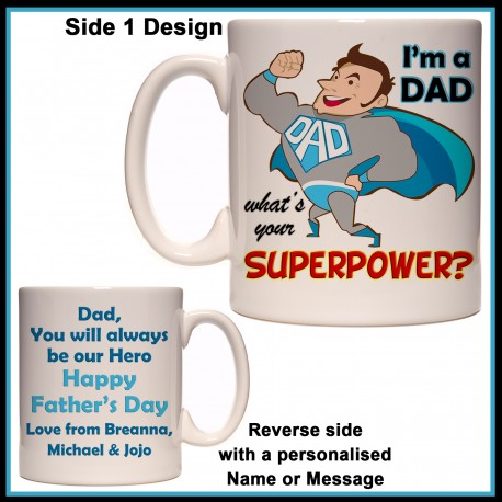Personalised I'm a DAD What's your Superpower? Mug