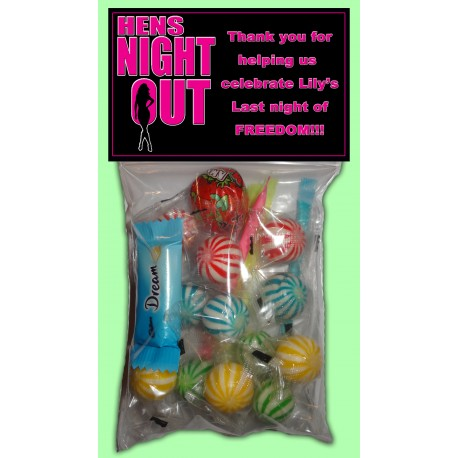 Personalised Hens Night Lolly Bags