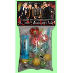 Personalised One Direction Lolly Bags
