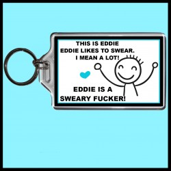 Personalised This is (male) Likes to Swear Large Key Ring