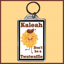 Personalised Don't be a Twatwaffle Large Key Ring