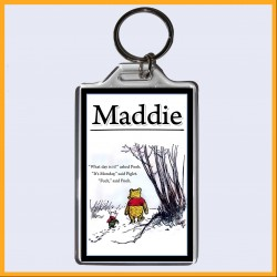 Personalised Fuck It's Monday - Winnie the Pooh Large Key Ring