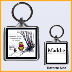 Personalised Fuck It's Monday - Winnie the Pooh Square Key Ring