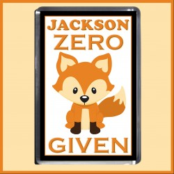 Personalised Zero FOX Given Magnet