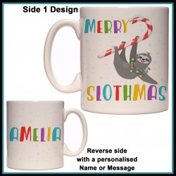 Personalised Merry Slothmas Mug