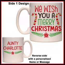 Personalised We Wish You a Merry Christmas Mug