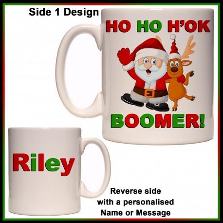 Personalised HO HO H'OK Boomer Mug