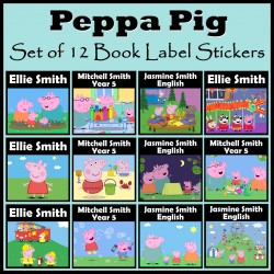 Personalised Peppa Pig Book Labels