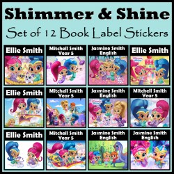 Personalised Shimmer and Shine Book Labels