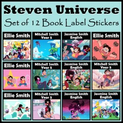 Personalised Steven Universe Book Labels