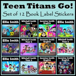 Personalised Teen Titans GO! Book Labels