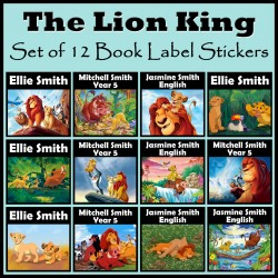 Personalised The Lion King Book Labels