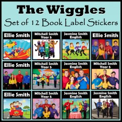 Personalised The Wiggles Book Labels