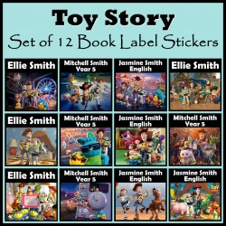 Personalised Toy Story Book Labels