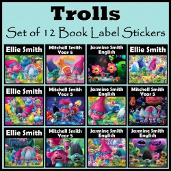 Personalised Trolls Book Labels