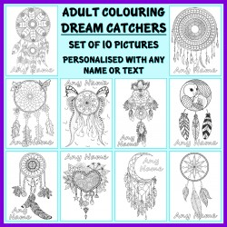 Personalised Adult Colouring - Dream Catchers