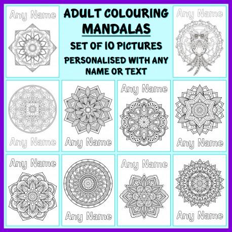 Personalised Adult Colouring - Mandalas