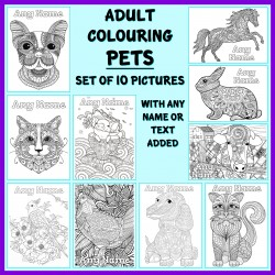 Personalised Adult Colouring - Pets