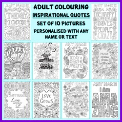 Personalised Adult Colouring - Inspirational Quotes